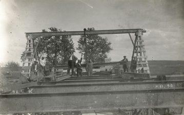 10. Saločių tilto statyba. Apie 1929 m. Fotogr. Chaitas Icikas