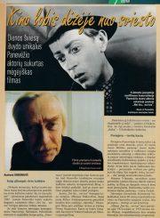 """3.""""Lietuvos ryto"""" savaitinis žurnalas """"TV antena"""" (1999 m., Nr. 48) apie filmo """"Nei šis, nei tas"""" atgimimą"""