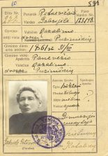 Gabrielės Petkevičaitės pasas, išduotas 1920 m. liepos 24 d. LLMA F11, ap. 1, b. 4.