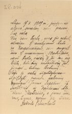 Gabrielės Petkevičaitės testamentas. 1909 m. liepos 17 d. LLTI MB F1-2104