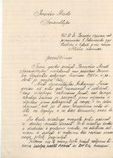 Kalinių globos draugijos Panevėžio skyriaus valdybos pirmininkės G. Petkevičaitės kreipimasis į Panevėžio savivaldybę 1925 metais skirti lėšų Panevėžio kalėjimui. 1924 m. LLTI MB F30-875b