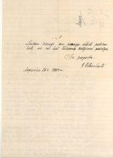 Kalinių globos draugijos Panevėžio skyriaus valdybos pirmininkės G. Petkevičaitės kreipimasis į Panevėžio savivaldybę 1925 metais skirti lėšų Panevėžio kalėjimui (tęsinys). 1924 m. LLTI MB F30-875b