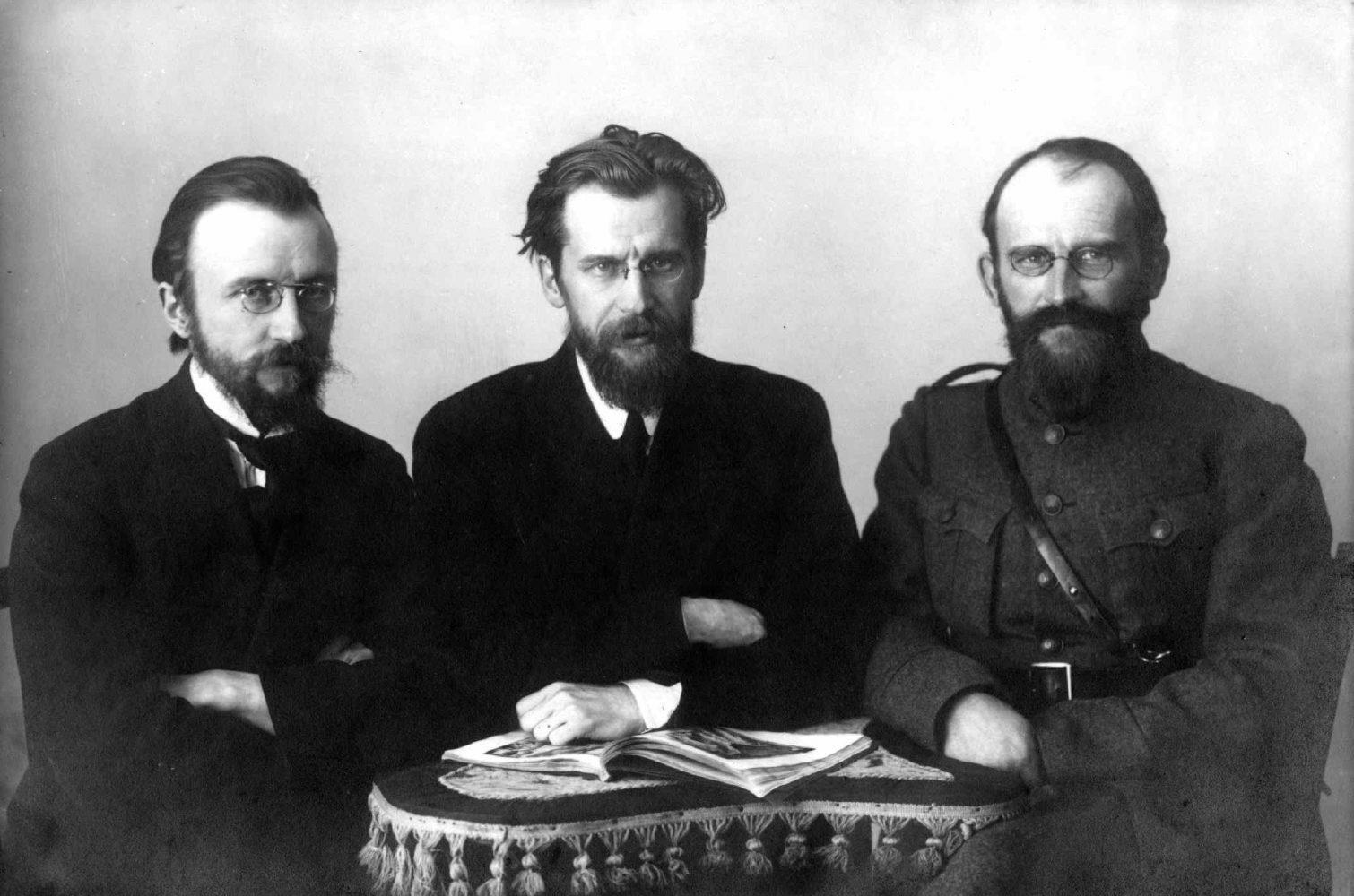 Viktoras, Mykolas ir Vaclovas Biržiškos