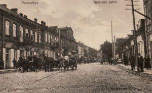 2. Vežikai Šeduvos gatvėje. Nuotrauka iš Panevėžio kraštotyros muziejaus rinkinių
