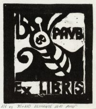Naraitė, Deimantė. Ex libris PAVB 150. 2010. 1/1 X3. 9,0 x 10,0 cm