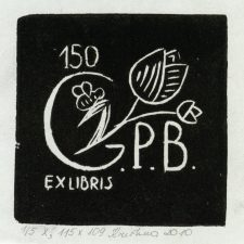 Muzdeikytė, Kristina. Ex libris G. P. B. 150. 2010. 1/5 X3. 11,5 x 10,9 cm