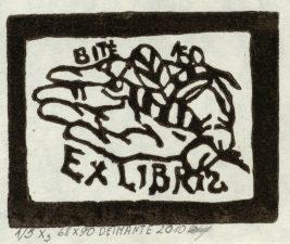 Kavaliauskaitė, Deimantė. Ex libris Bitė. 2010. 1/5 X3. 6,8 x 9,0 cm