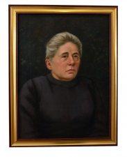 Mackevičius, Jonas. Gabrielė Petkevičaitė-Bitė: portretas. 1936. Drobė, aliejus, 64x45. Vytauto Didžiojo karo muziejaus nuosavybė