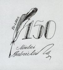 Miknevičiūtė, Vilė. Ex libris Mielai Gabrielei – 150