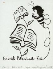 Adikevičienė, Inga. Ex libris Gabrielė Petkevičaitė-Bitė 150. 2011. CAD. 9,0 x 11,0 cm