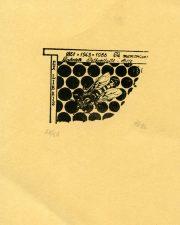 Zigmantas Plėštys. Ex libris Gabrielė Petkevičaitė-Bitė 1861-1943-1986. In memoriam. 1986. P1. 4 x 5,5 cm. PAVB F94-6
