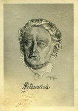 Feigenzonas, Solomonas. G. Petkevičaitė: portretas. 1932. Popierius, pieštukas. PKM GEK910 R1044