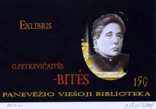 Plikionytė-Bružienė, Joana. Ex libris G. Petkevičaitės-Bitės. 125. Panevėžio viešoji biblioteka. 2011. PAVB F37