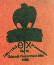 Ajauskas, Valentinas. In Memoriam Gabrielė Petkevičaitė-Bitė. 1861-1943. 1986. Pı, 4,8 x 3,9 cm