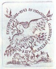 Jurgelionienė, Elvyra Marija. 1861-1943. In memoriam Gabrielė Petkevičaitė-Bitė. 1986. Cз, 9,2 x 7,6 cm