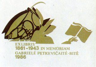 Petrulis, Mindaugas. 1861-1943. In memoriam Gabrielė Petkevičaitė-Bitė. 1986. S2, 47 x 77