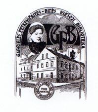 """Karlsone, Aina. Ex libris. """"Aido"""" draugijai 100. Gabrielės Petkevičaitės-Bitės viešoji biblioteka. 2006. CRD. 7,5 x 5,8 cm. PAVB F37"""