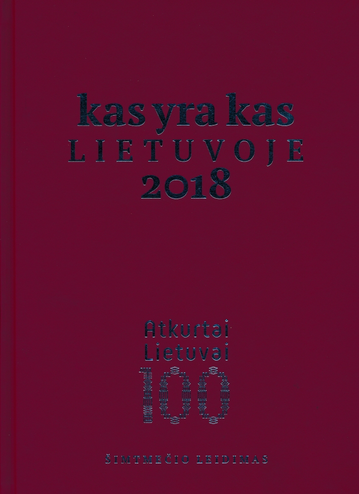 Kas yra kas Lietuvoje. 2018