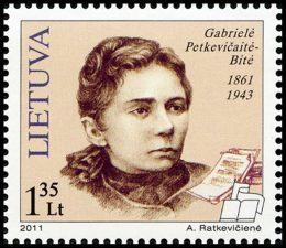 Ratkevičienė, Aušrelė. Gabrielė Petkevičaitė-Bitė. 1861 – 1943: pašto ženklas. Išleido Lietuvos paštas. 2011 m.