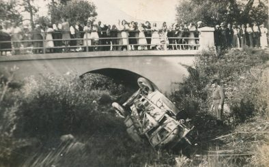 Autoįvykis Berčiūnuose. Apie 1939 m.