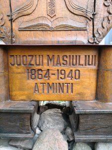 Koplytstulpis skirtas knygnešio Juozo Masiulio ir visų knygnešių garbei. Astos Rimkūnienės nuotrauka