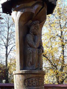 Stogastulpis, skirtas Lietuvos Krikšto sukakčiai paminėti. Astos Rimkūnienės nuotrauka