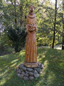 """Skulptūra """"Šv. Pranciškus"""". Astos Rimkūnienės nuotrauka"""
