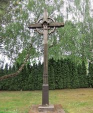 Kryžius Panevėžio pirmosios bažnyčios ir kapinių vietai pažymėti. Astos Rimkūnienės nuotrauka