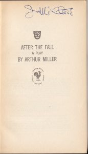 Arthur Miller. After the fall