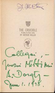 Arthur Miller. The crucible