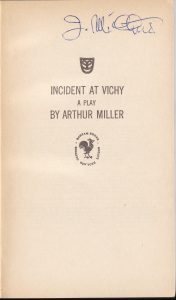 Arthur Miller. Incident at Vichy