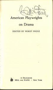 American playwrights on drama edited by Horst Frenz