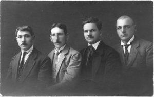 2.Panevėžio muzikai. Antras iš kairės Vladas Paulauskas, vadovavęs Prekybos mokyklos chorui. XX a. 4 deš. Nuotrauka iš privačios kolekcijos