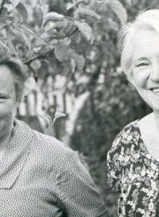 Pedagogės bičiulės Elena Gabulaitė ir Aleksandra Šilgalytė. Panevėžys. 1968 m. PAVB F9-1147