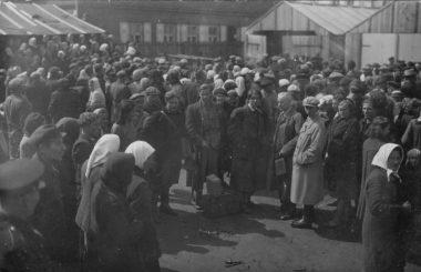 1. Vežimai darbams į Vokietiją 1942 m. Nuotrauka iš privačios kolekcijos