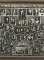 Panevėžio lenkų gimnazijos XI laidos absolventai ir pedagogai. Fotogr. J. Trakmano. Panevėžys. 1933 m. PAVB F96-182