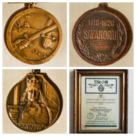 """Konkursui-parodai """"Pasvalio krašto žmonių apdovanojimai 1918–1940 m."""" pateikti eksponatai ir dokumentas"""