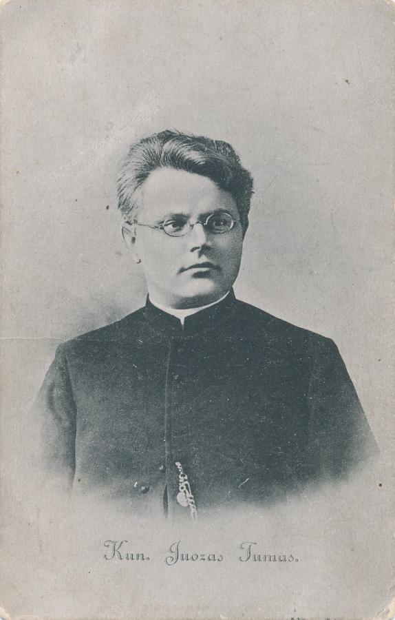 Kunigas Juozas Tumas. Vilnius, apie 1909. PAVB F8-101
