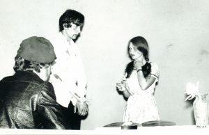 Valdemaras – mokyklinio vaidinimo artistas. Kupiškis. 1974 m. Iš Valdemaro Kukulo asmeninio archyvo