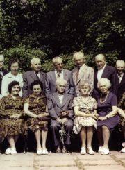 Panevėžio mokytojų seminarijos 1929 m. laidos absolventų ir mokytojo Juozo Mičiulio susitikimas po 55-erių metų. Vilnius. 1984 m. PAVB F116-82