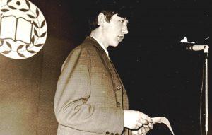 Valdemaro Kukulo debiutas Knygos šventėje. Kupiškis. 1972.10.22. Iš Kupiškio rajono savivaldybės viešosios bibliotekos fondų