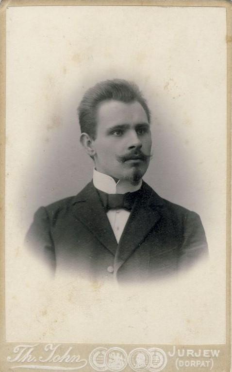 Rašytojas Jonas Biliūnas. 1901 m. VŽM F 1790. Iš: www.limis.lt