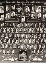 4. Panevėžio pedagoginio instituto vinjetė. 1939 m. Nuotrauka iš V. Vyšniausko kolekcijos