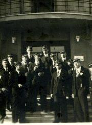 Vytauto Didžiojo universiteto studentai. A. Gabrėnas 1-je eilėje 1-as iš kairės. 1931 m. PAVB F87-80