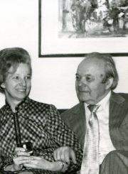 Nijolė Jankutė-Užubalienė su rašytoju Jurgiu Jankum. Rochester, NY. 1970 m