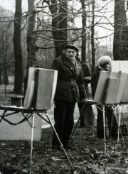 """Dailės studijos """"Spektras"""" užsiėmimuose Skaistakalnyje. 1970 m. PAVB F87-81"""