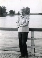 Antanas Gabrėnas Trakuose. Apie 1975 m. PAVB F87-66