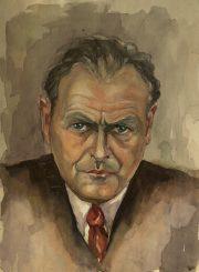 Antanas Gabrėnas. Autoportretas: akvarelė. PAVB F87-4
