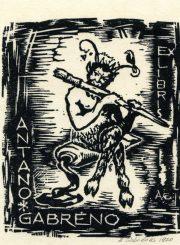 Gabrėnas. Exlibris Antano Gabrėno. 1970 m. PAVB F87-12