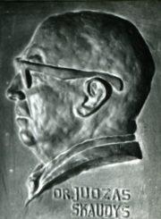 Antanas Gabrėnas. Dr. Juozas Skaudys: bareljefas